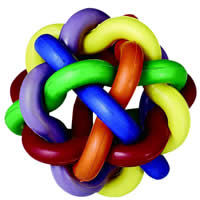 Multipet International - Nobbly Wobbly Rubber Ball - Large