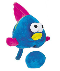 "Plush Puppies - Egg Babies - Fish - 9""H x 9""W x 10""D"