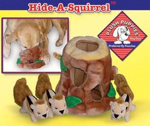 Plush Puppies - Puzzle Plush Replacement Squirrels - 3 Pack