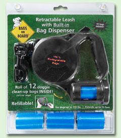 Bramton Bags On Board - Retractable Leash - Black - Small
