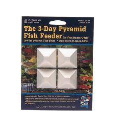 Aquarium Pharmaceuticals - The 3-Day Pyramid Fish Feeder - 4 Count