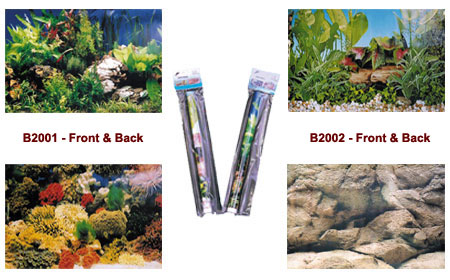 Metro Traders - Two Sided Aquarium Backing Assortment - 36 Pieces