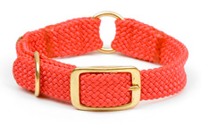"Mendota Pet - Center Ring Collar - Red - 1""w  up to 18 Inch"