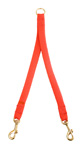 """Mendota Pet - Small Breed Coupler, 2-Dog - Red - 9/16""""w  x 24 Inch"""