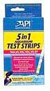 Aquarium Pharmaceuticals - 5 In 1 Test Strips - 25 Count