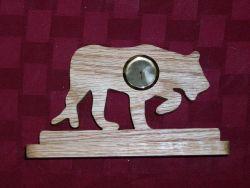 Fine Crafts - Wooden Jaguar Mini Desk Clock