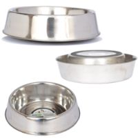 Anti Ant Stainless Steel Non Skid Pet Bowl for Dog or Cat - 32 oz