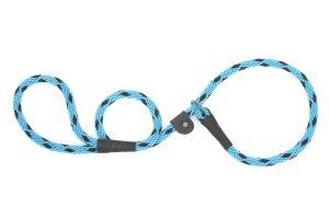 Mendota Pet - Black Ice Slip Lead - 1/2 Inch x 6 Feet - Turquoise