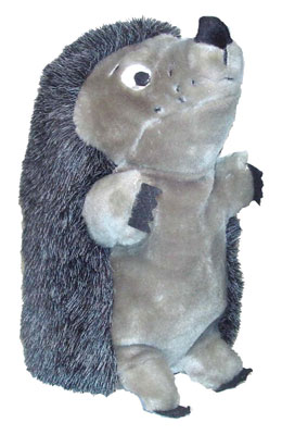 """Plush Puppies - Hedgehog II Deluxe Jumbo - Grey - 7""""W x 11""""H"""