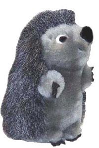 """Plush Puppies - Hedgehog II Jr - Grey - 3""""W x 3""""H X 6"""" L"""