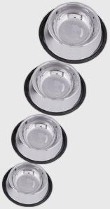 Stainless Steel - Non Tip Anti-Skid Bowl - 24 oz/1.5 Pint