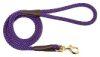 Mendota Pet - Snap Leash - Purple - 1/2 Inch x 4 Feet