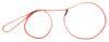 Mendota Pet - British Show Slip Lead - Red - 1/8 Inch x 54 Inch