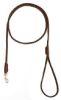 Mendota Pet - British Show Snap Leash - Dark Brown - 1/8 Inch x 4 Feet