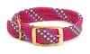 "Mendota Pet - Double Braid Collar - Raspberry Confetti - 1""w up to 18 Inch"