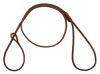 Mendota Pet - Show Loop Lead - Brown - 1/8 Inch x 4 Feet
