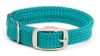"Mendota Pet - Double-Braid Collar with Satin Hardware - Teal - 1""w up to 18 Inch"