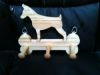 Fine Crafts - Wooden Dobermann Leash Holder