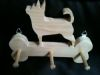 Fine Crafts - Wooden Handmade Chiuahua Leash Holder
