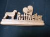 Fine Crafts - Wooden I Love My Rottweiler Display