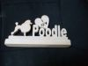 Fine Crafts - Wooden I Love My Poodle Display