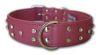 "Angel Pet Supplies - Athens Leather Rhinestone Bling Dog Collar - Bubblegum Pink - 24"" X 1.5"""