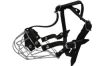 """Angel Pet Supplies - B2 Miami Wire Cage & Leather Muzzle - Black - 12.75"""" circumference, 2.75"""" length"""