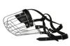 "Angel Pet Supplies - 9 Miami Wire Cage & Leather Muzzle - Black - 13.75"" circumference, 5"" length"