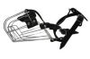 "Angel Pet Supplies - 8 Miami Wire Cage & Leather Muzzle - Black - 14"" circumference, 4.5"" length"