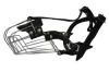 "Angel Pet Supplies - 6 Miami Wire Cage & Leather Muzzle - Black - 11.75"" circumference, 4"" length"