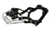 "Angel Pet Supplies - 4 Miami Wire Cage & Leather Muzzle - Black - 10"" circumference, 3.5"" length"