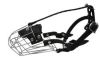 "Angel Pet Supplies - 3 Miami Wire Cage & Leather Muzzle - Black - 9"" circumference, 3"" length"