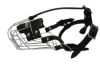 """Angel Pet Supplies - 2 Miami Wire Cage & Leather Muzzle - Black - 8.5"""" circumference, 2.75"""" length"""