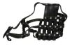 "Angel Pet Supplies - BM9 Boston Leather Basket Muzzle - Black - 17.5"" circumference, 4.25"" length"