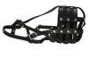 "Angel Pet Supplies - BM6 Boston Leather Basket Muzzle - Black - 13.75"" circumference, 4"" length"