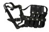 "Angel Pet Supplies - BM5 Boston Leather Basket Muzzle - Black - 12"" circumference, 3.75"" length"