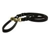Angel Pet Supplies - Braided Leather Leash - Black - 6' X1/2""