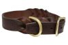 "Angel Pet Supplies - Braided  Leather  Dog Collar - Brown - 24"" X 1.25"""