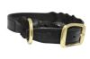 "Angel Pet Supplies - Braided  Leather  Dog Collar - Black - 22"" X 1"""