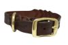 "Angel Pet Supplies - Braided  Leather  Dog Collar - Brown - 20"" X 1"""