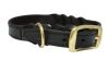 "Angel Pet Supplies - Braided  Leather  Dog Collar - Black - 18"" X 3/4"""