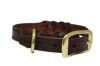 "Angel Pet Supplies - Braided  Leather  Dog Collar - Brown - 16"" X 3/4"""