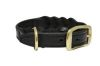 "Angel Pet Supplies - Braided  Leather  Dog Collar - Black - 16"" X 3/4"""