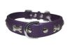 "Angel Pet Supplies - Rotterdam Leather ""Bones"" Dog Collar - Orchid Purple - 22"" X 1"""