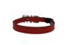 "Angel Pet Supplies - Alpine Leather Elastic Break-Away Cat Collar - Valentine Red - 12"" X 1/2"""