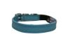 "Angel Pet Supplies - Alpine Leather Elastic Break-Away Cat Collar - Baby Blue - 10"" X 1/2"""