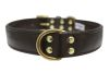 "Angel Pet Supplies - Alpine Leather Padded Dog Collar - Chocolate Brown - 24"" X 1.25"""