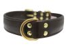 "Angel Pet Supplies - Alpine Leather Padded Dog Collar - Chocolate Brown - 26"" X 1.25"""