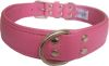 "Angel Pet Supplies - Alpine Leather Padded Dog Collar - Bubblegum Pink - 26"" X 1.25"""