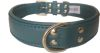 "Angel Pet Supplies - Alpine Leather Padded Dog Collar - Ocean Blue - 26"" X 1.25"""